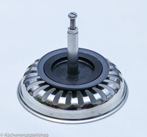 BLANCO 125555Bonde à panier avec commande pommes de pin pour ponceuse excentrique acier inoxydable, 8,2cm, 3,5pouces