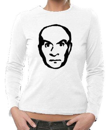 TOUCH - T-Shirt Louis de Funes, T-shirt da donna, bianco (white), S