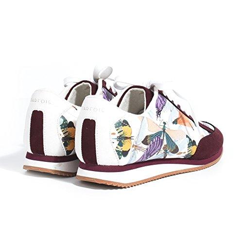 Parfois - Chaussures Basket Flacher Absatz Bordeaux - Femmes Bordeaux