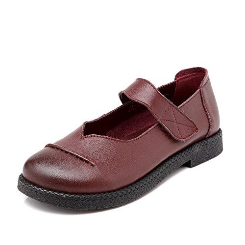 Chaussures vintage femmes/Fin de la pente avec moyen doux et souliers pour dames âgées vieux/Mère avec des chaussures plates/Chaussures femme A