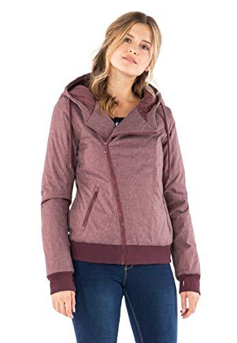 Sublevel Damen Winter Jacke mit Kapuze Übergangsjacke - warm gefüttert S-3XL Dark-Rose XL