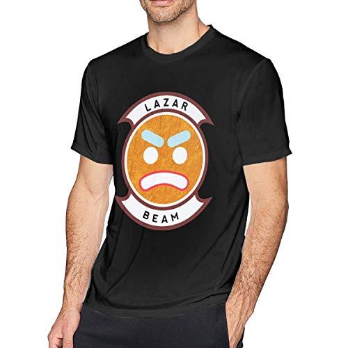 Männer Classic T-Shirt Lazarbeam YouTube Print Tee Shirts für Männer Jungen Sommer Casual Kurzarm Rundhals (New Outfit Orange Is The Black)