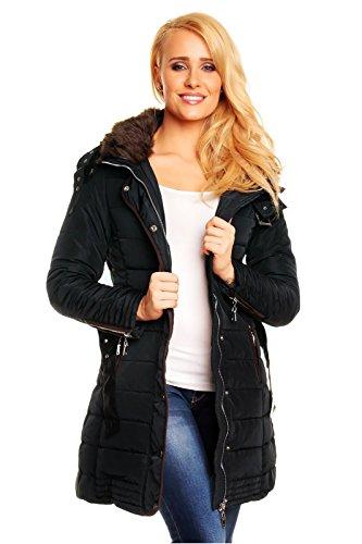 elegant-quilted-coat-with-fur-trimmed-hood-in-black-xs-s-m-l-8-10-12-14-of-best-emilie-black-14