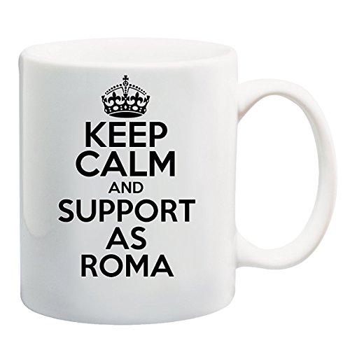 Keep Calm AND SUPPORT AS ROMA Mug