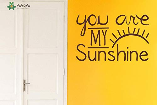 zhuziji Kids Room Wall Decal Quotes You Are My Sunshine Vinyl Wall Stickers Eye Eyelash Pattern Home Decor Art Mural Interior Dec 88x57cm Blue Willow Boot