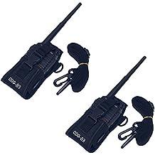 Coodio B3 Motorola Cobra Midland Kenwood iCom BaoFeng Radio Funda, Multi-Función Bolsa Carcasa Funda Case Para Walkie-Talkie radio emisor y receptor PMR GPS - Negro(Par)