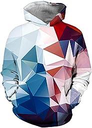 OLIPHEE Teen's Hoodie 3D Digital Print Fashion Youth Hoodie Mens Pullover Spring Fashion Ju
