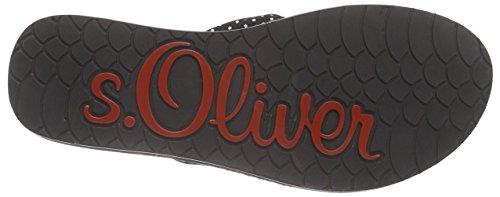 s.Oliver 27117, Sandali Donna Nero (Nero (Black 001))