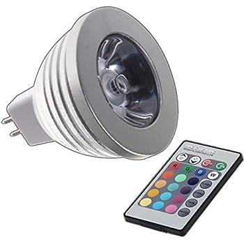 MR16 RGB 4 W LED – Cambio de color Lámpara 4 W Lámpara de luz con mando a distancia Colores Foco Bombilla Bombilla Spot