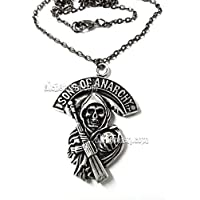 Sons of Anarchy, collana anallergica 5cm, motociclisti biker nomadi cyberpunk