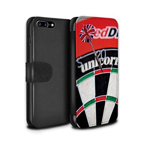 Stuff4 Coque/Etui/Housse Cuir PU Case/Cover pour Apple iPhone 7 Plus / Bull/Bullseye Design / Fléchettes Photo Collection Tops/Double 20