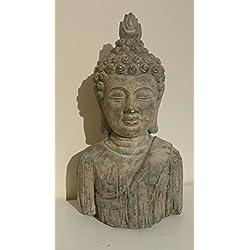 Cabeza de Buda–estatua escultura de jardín a prueba de heladas efecto piedra