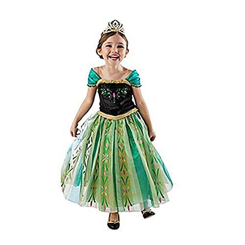 HAWEE Prinzessin Kleid Grimms Märchen Kostüm Cosplay Mädchen Halloween Kostüm (5-6 Jahre/130cm)