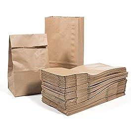Vordas 100 Sacchetti di Carta con Fondo 17 x 9 x 5 cm – 70 g./m2, Sacchetti di Carta per Alimenti Natalizi, Ideali per…