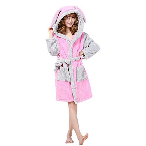 JYSPORT Damen Bademäntel Morgenmantel Saunamantel Frottee Handtuch Mantel Leichtgewicht Dressing Kleid Tier Cosplay Nachtwäsche Kostüm (Rabbit, (Rabatt Überprüfen Kostüm)