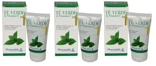 Pharmalife – Crème Cire TE 'vert & Vitamine et 3 conf de 75 ml – Cuir impures, séchées, vieillissement précoce, acné