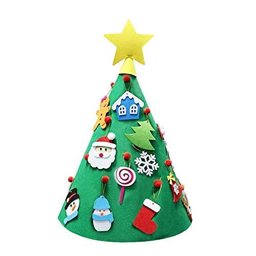 Chirsemey albero di natale in feltro per bambini kit di artigianato natalizio in feltro 3d fai-da-te kit di ornamenti per albero di natale fatto a mano per la decorazione della nearby