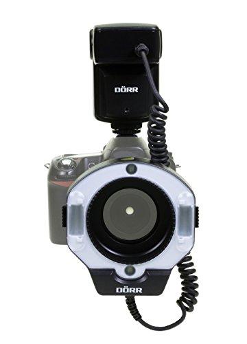 Dörr DMF-15 Makro Ringblitz für Nikon Kamera schwarz