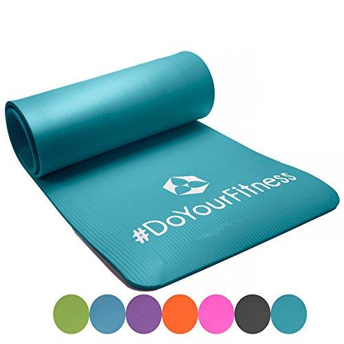 Matelas de fitness »Yogini« / épais et souple, idéal pour le pilates, la gymnastique et le yoga, dimensions : 183 x 61 x 1 cm / turquoise