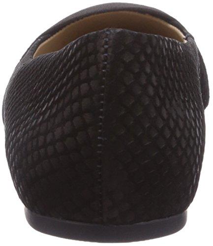 Buffalo London Zs 3232-13 Pelle Di Pesce Signore Chiuse Ballerine Nere (nero 01)