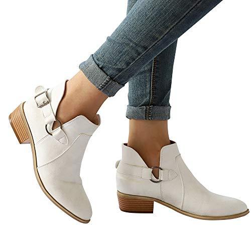 SUNNSEAN Damenstiefel Stiefeletten DamenStiefel Spitz Martin Stiefel Klassische Stiefeletten Freizeitschuhe Casual Boots Mode Einzelne Schuhe
