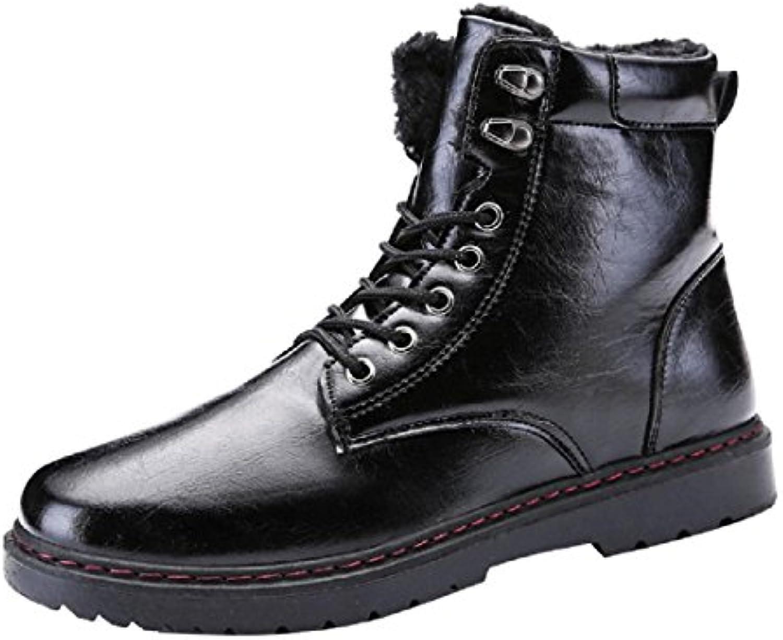 Herren Herbst Winter Mode Martin Stiefel Plus Kaschmir Warm halten Lederschuhe Flache Schuhe Lässige Schuhe EUR