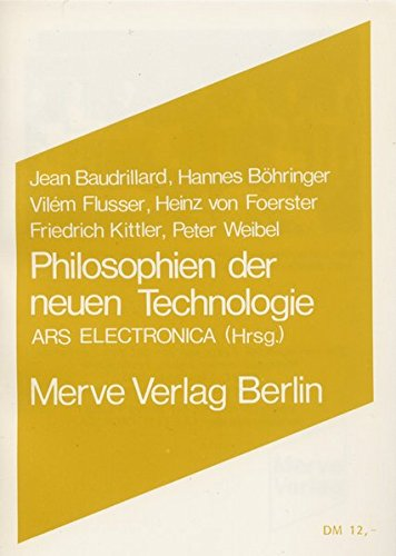 Philosophien der neuen Technologie (Internationaler Merve Diskurs)