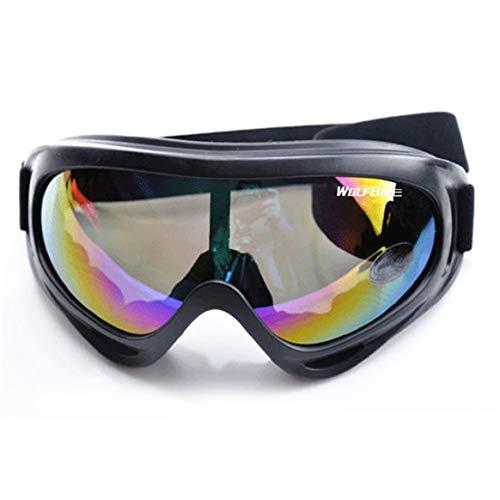 Gafas a prueba de viento Ciclismo Gafas de seguridad para exteriores Gafas para esquiar en motocicleta Protector de ojos ajustable contra rasguños - Colorido