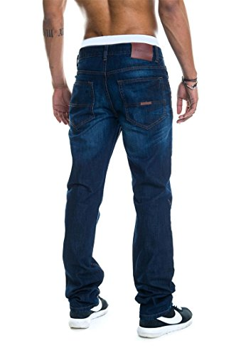 Rocawear Homme Jeans Straight Fit Leather Patch - mid blue