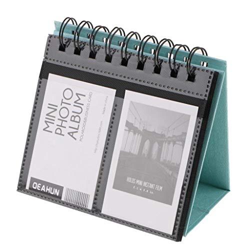 perfk Schreibtisch Tischkalender Stil Foto-Album Fotoalbum für Fujifilm Instax Mini 7S 8 50s 70 90 26 9/Polaroid Z2300 pic-300p Snap Zip Filme