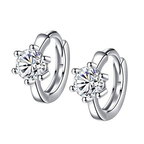 Nikgic Silber Anhänger Damen Accessoires Six-Claw Fashion Runde Ohrringe Mode Ohrringe Anhänger Frauen Geschenke