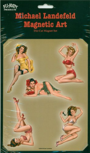 Kühlschrank Hawaii (Magnet Set Retro Pinup Girl's)