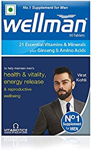 Wellman - Health Supplements (21 Essential Vitamins and Minerals, With Added Ginseng And Amino Acids) - 30 Tab
