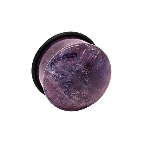 Blue Banana Body Piercing Amethyst Edelstein Ohr Plug 6-16mm (Violett) - 8mm