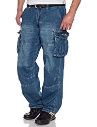 Jet Lag Herren Cargo Jeans Safety A Freizeithose Arbeitshose Relaxed Fit 8955763b65