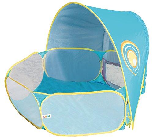 LUDI - Aire de jeu pour enfant à la plage. Dès 10 mois. Tissu avec Protection UV 50. Structure pop-up 100 x 113 x...