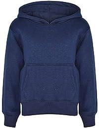 0315f197a1a23 A2Z 4 Kids® Enfants Filles Garçons Sweatshirt Tops Designer Bleu Marine  Désinvolte - Plain Sweat