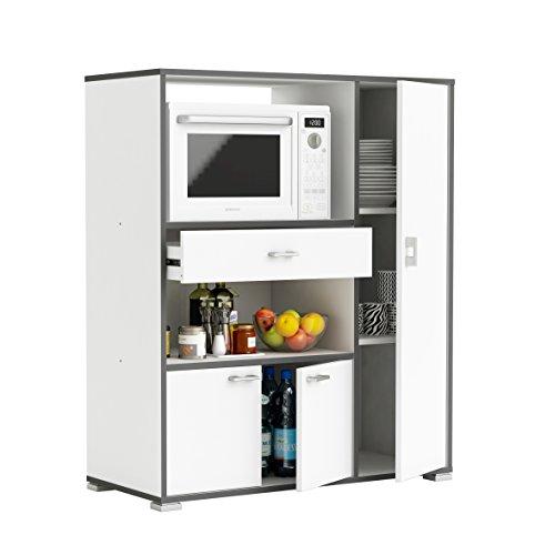 Demeyere Buzz Küchenschrank, Spanplatte und Melamin, weiß, 90 x 112 x 40 cm