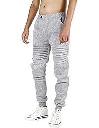 Hombres Pantalones, Manadlian Hombres Pantalones deportivos Casual Ropa deportiva Pantalones anchos Pantalones de baile (L, Gris)