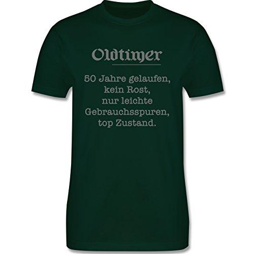 Geburtstag - 50 Jahre Oldtimer Fun Geschenk - Herren Premium T-Shirt Dunkelgrün