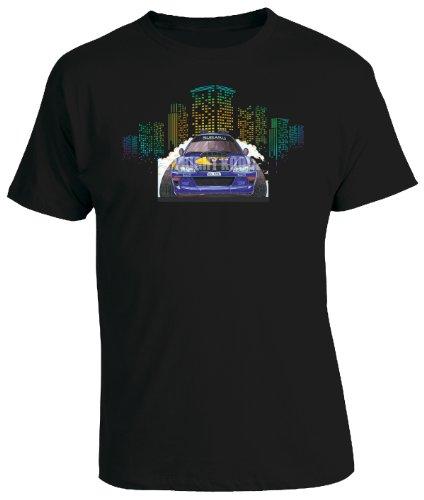 KOOLART Cartoon Caricature Style of Subaru Mcrae Rally Car 98 - Mens T-Shirt