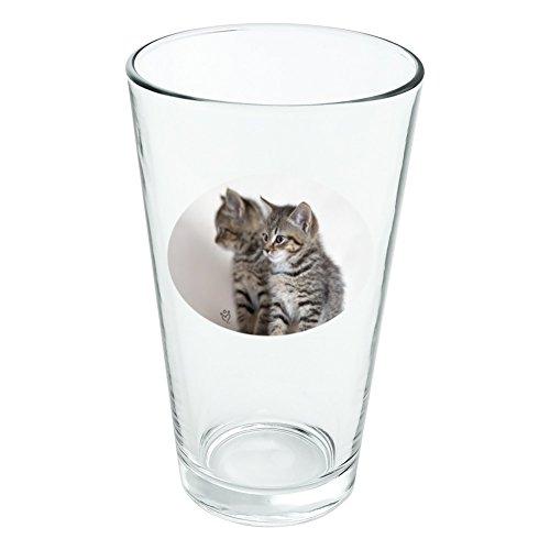 Domestic Shorthair Chat Image Miroir fantaisie 453,6 gram Pinte à boire en verre trempé