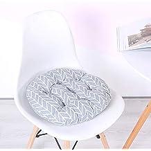 Cojín de asiento redondo acolchado, algodón antideslizante, lavable, acolchado, ...