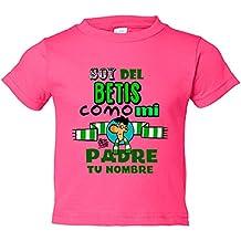Camiseta niño soy del Betis como mi padre personalizable con nombre