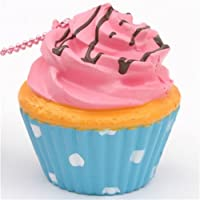 Pinke Glasur Cupcake Squishy niedlicher Handy Anhänger Sammy the Patissier