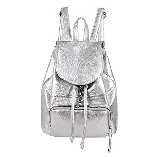 WITERY, in pelle PU Premium, da donna, stile Casual, alla moda, per la scuola, motivo borsellino Handbags, argento (Argento) - CLOA0026-03