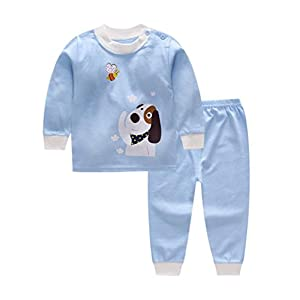 Bold N Elegant Cool Printed Bear Giraffe Car Cartoon Printed Baby Boy Girl Two Piece Clothing Set Full Length Tshirt Pant Set for Infant Toddler Kids