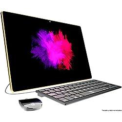 """Primux Iox All-in-One, Ordenador con pantalla táctil de 17.3"""" HD (Intel Celeron N3350 2.41 GHz, 4 GB DDR3L SDRAM, 32 GB almacenamiento, HDMI, USB 3.0 Y 2.0), color dorado"""