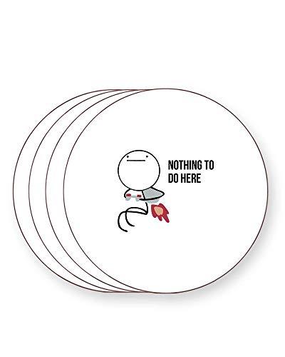 Nothing to Do Here - Jet Pack Guy - Classic Meme - Rage Comic - Getränkeuntersetzer - einzeln oder als 4er Pack - quadratisch oder rund, ROUND Pack of 4