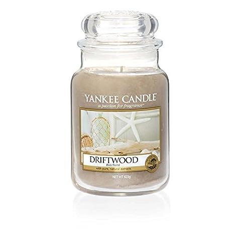 Yankee Candle 1533667E Bois Flotté Bougie Grande Jarre Verre Beige 10 x 9,8 x 11,9 cm